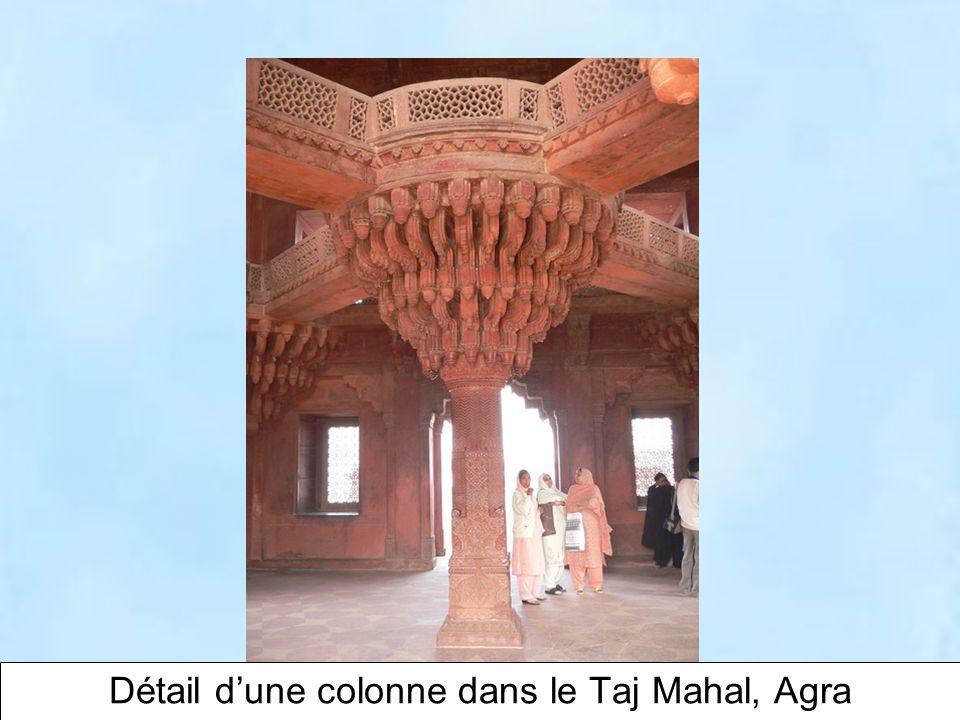 15 Taj Mahal, Agra. Vu du côté est