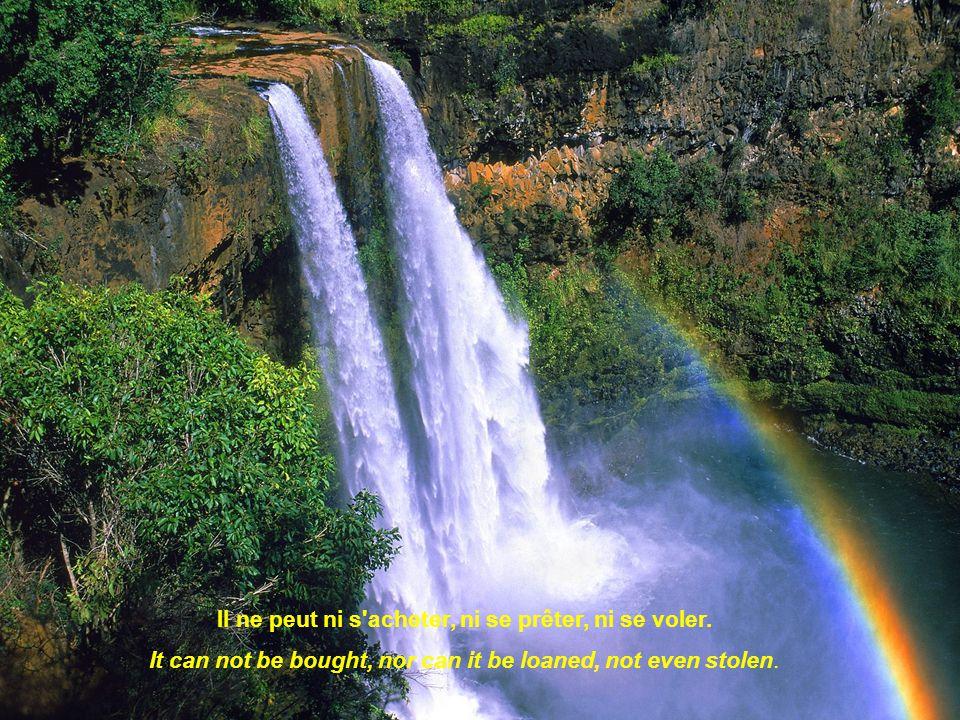 Il donne du courage au plus découragé. It gives courage to the most discouraged.