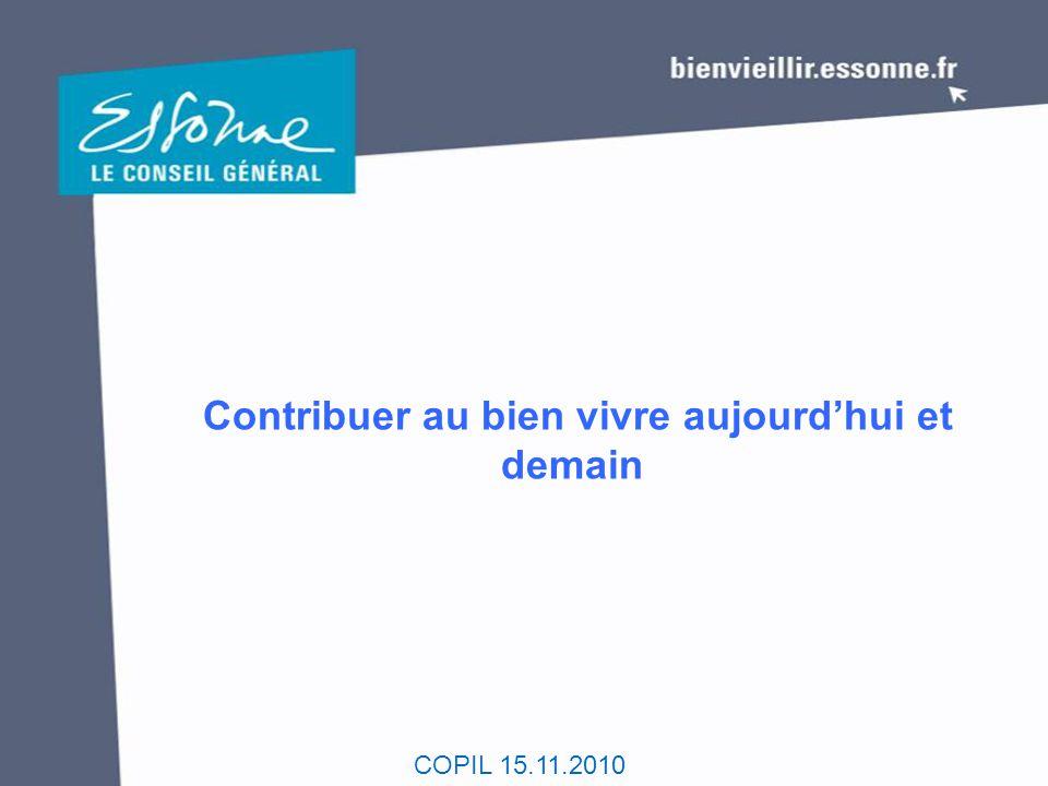 COPIL 15.11.2010 Contribuer au bien vivre aujourd'hui et demain