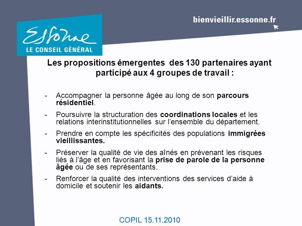COPIL 15.11.2010 LES ORIENTATIONS DU FUTUR SCHEMA