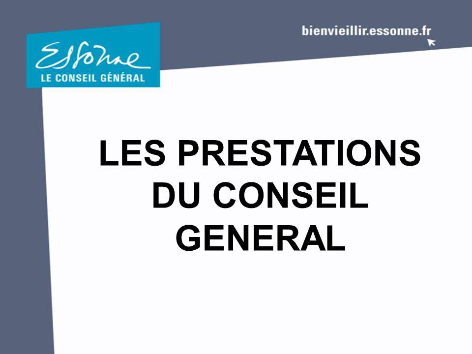 LES PRESTATIONS DU CONSEIL GENERAL