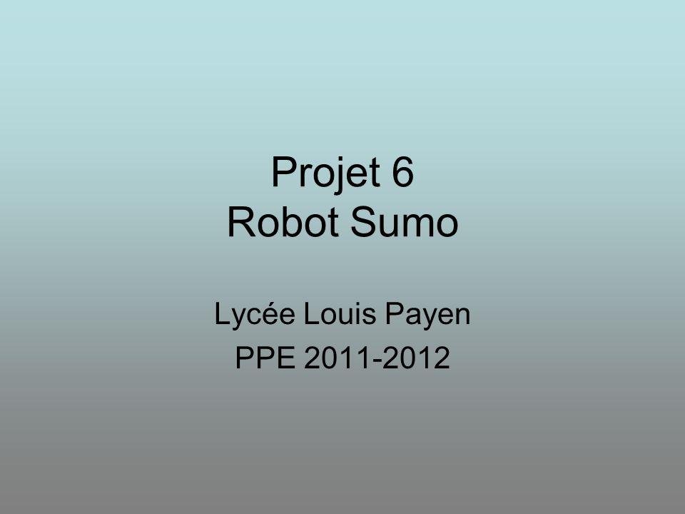 Projet 5 Pilotage du scooter Mise en situation : Dans le cadre du concours de Robotique, on se propose de réaliser un robot sumo qui devra éjecter son adversaire de l'arène