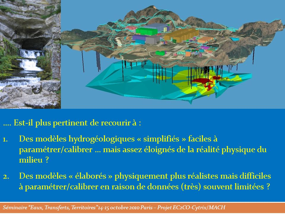 Séminaire Eaux, Transferts, Territoires 14-15 octobre 2010 Paris – Projet EC2CO-Cytrix/MACH ….