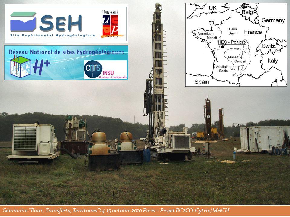 Séminaire Eaux, Transferts, Territoires 14-15 octobre 2010 Paris – Projet EC2CO-Cytrix/MACH