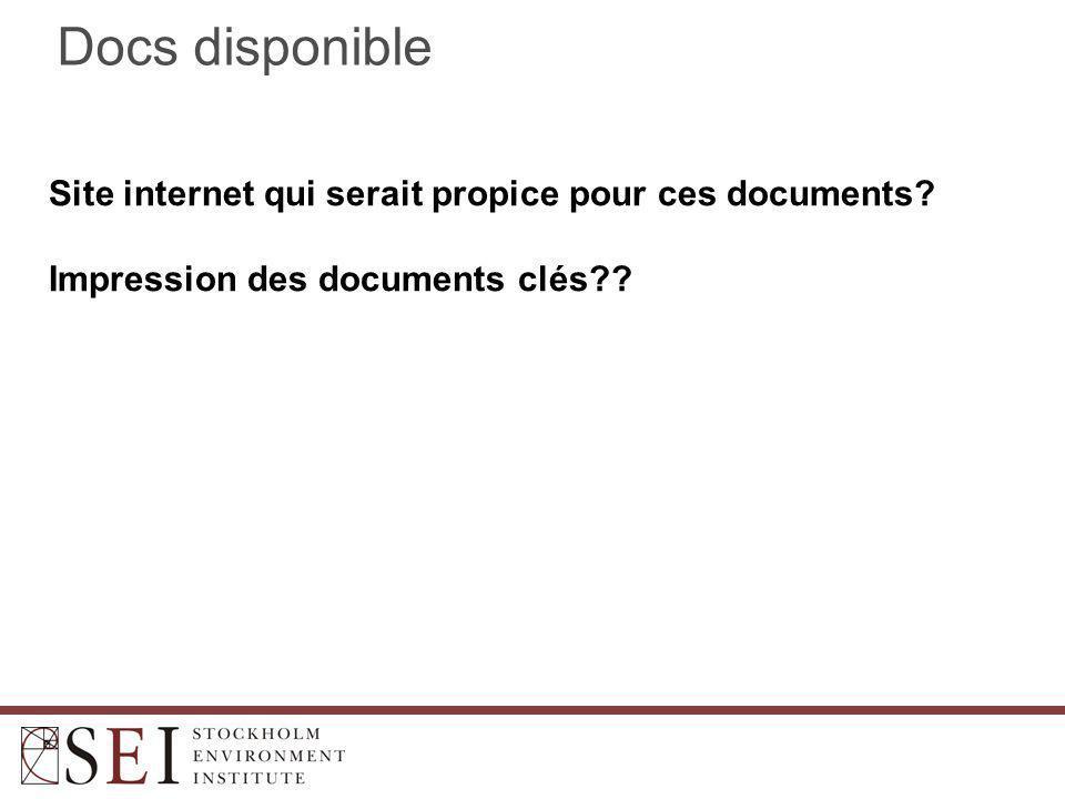 Docs disponible Site internet qui serait propice pour ces documents.