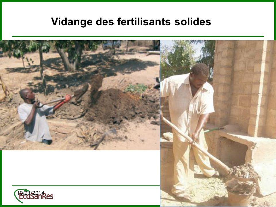 10/21/201428 Vidange des fertilisants solides