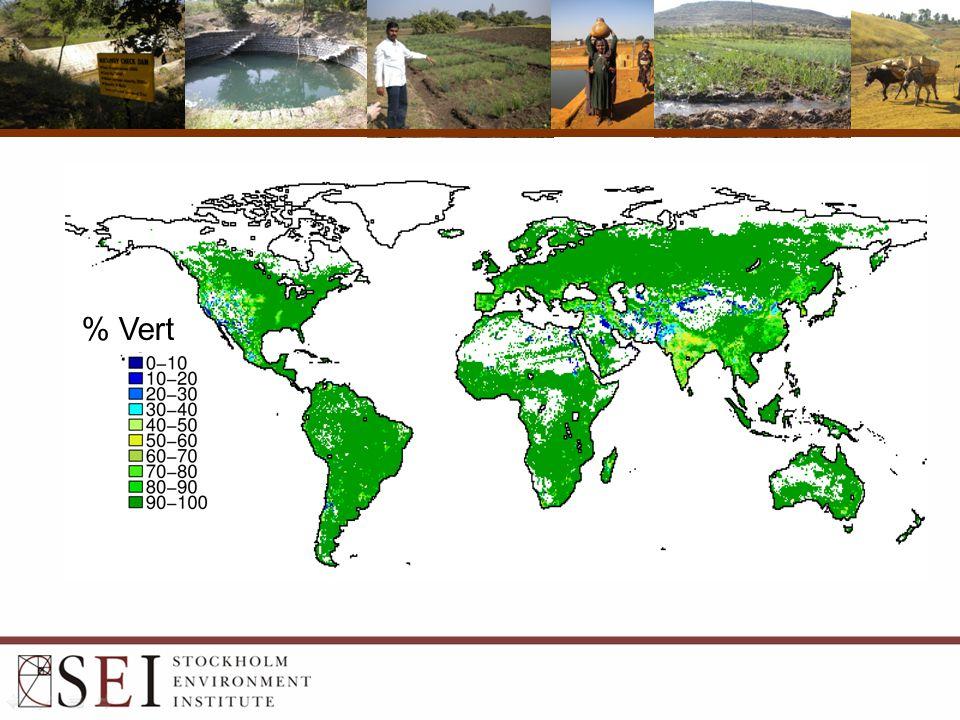 Pluie: 110 000 km 3 /yr Cultures 4% Pâturage 18% Agriculture irrigué
