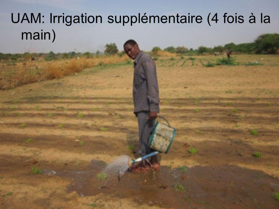 UAM: Irrigation supplémentaire (4 fois à la main)
