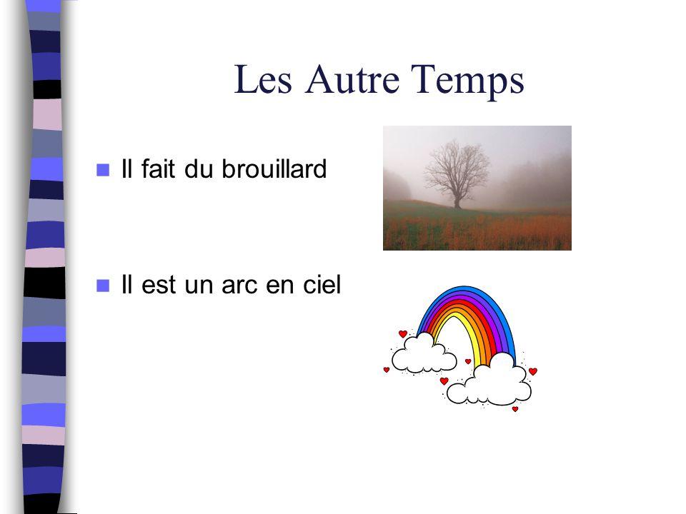 Les Autre Temps Il fait du brouillard Il est un arc en ciel
