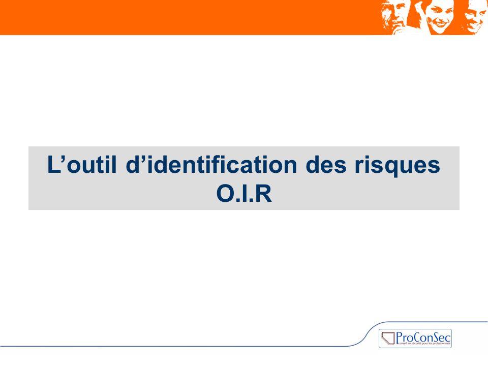 L'outil d'identification des risques O.I.R