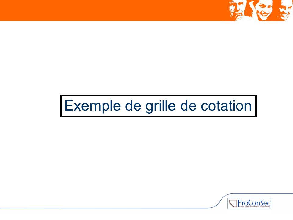 Exemple de grille de cotation