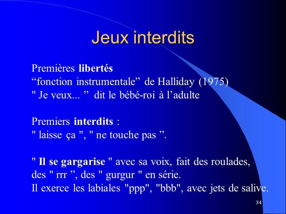 """34 Jeux interdits Premières libertés """"fonction instrumentale"""" de Halliday (1975)"""
