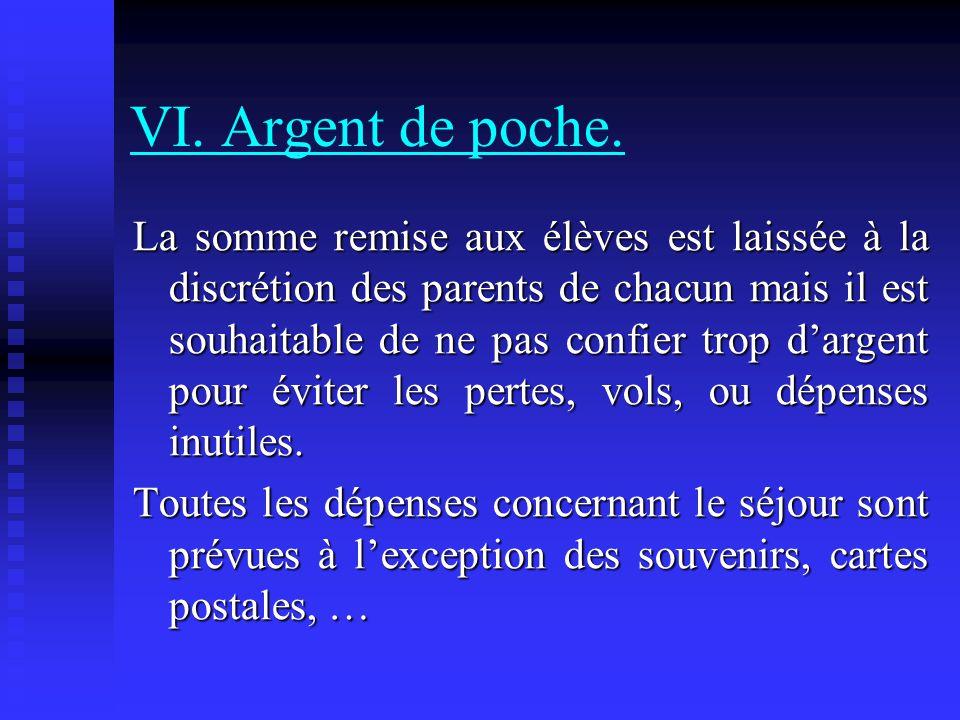 VI. Argent de poche.
