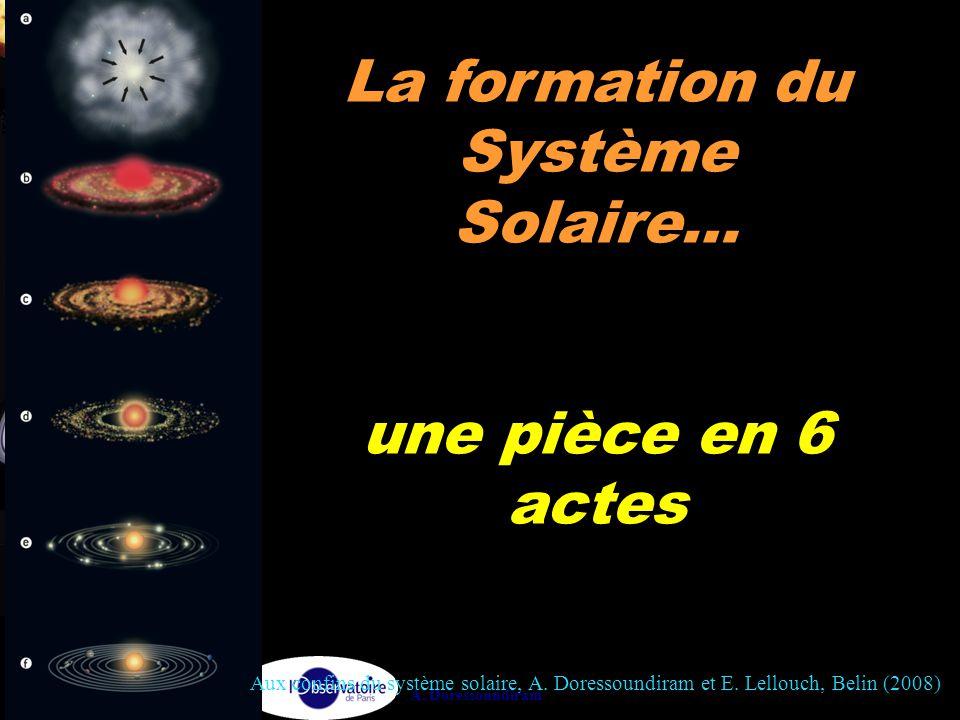 A. Doressoundiram La formation du Système Solaire… une pièce en 6 actes Aux confins du système solaire, A. Doressoundiram et E. Lellouch, Belin (2008)