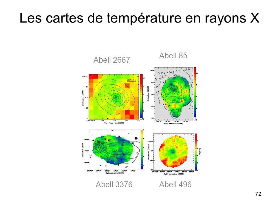 72 Les cartes de température en rayons X Abell 2667 Abell 85 Abell 496Abell 3376