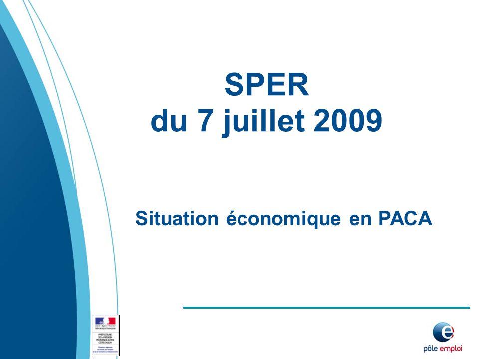 SPER du 7 juillet 2009 Situation économique en PACA