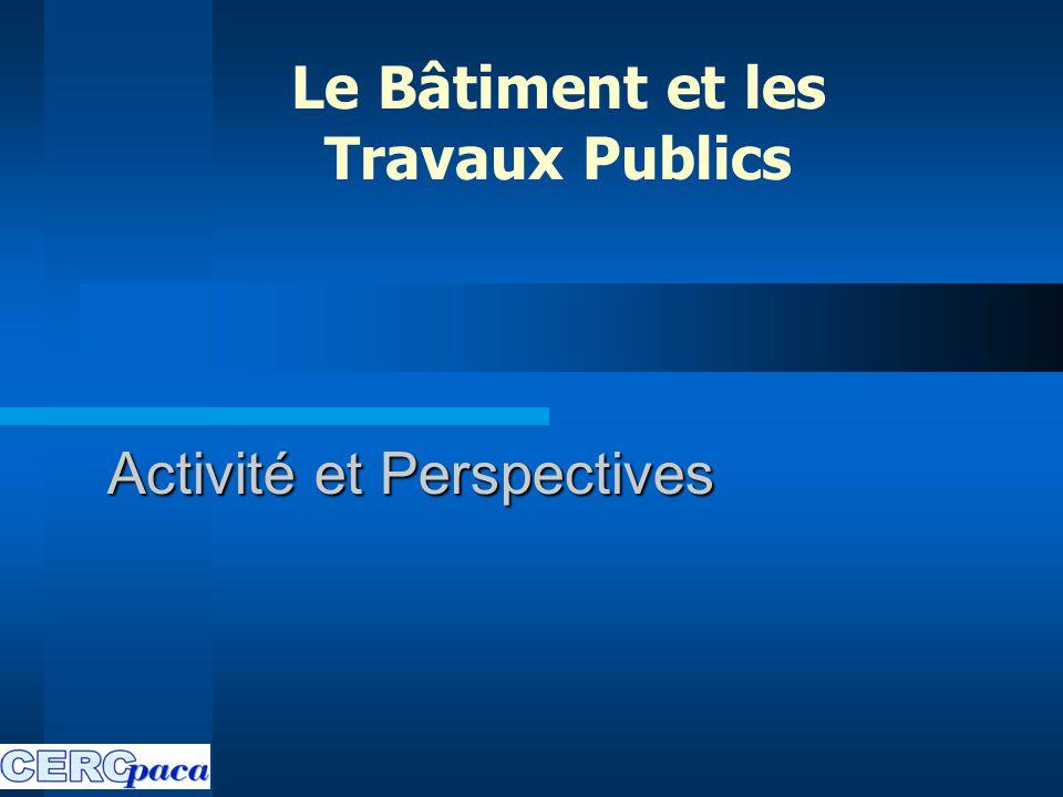 Activité et Perspectives Le Bâtiment et les Travaux Publics