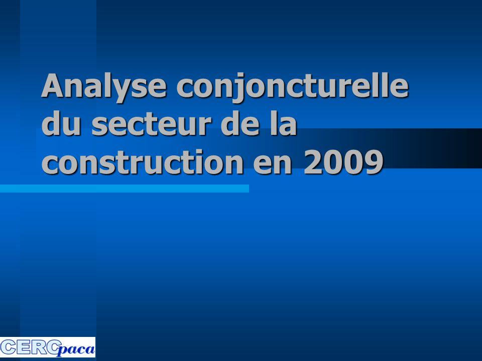 Analyse conjoncturelle du secteur de la construction en 2009