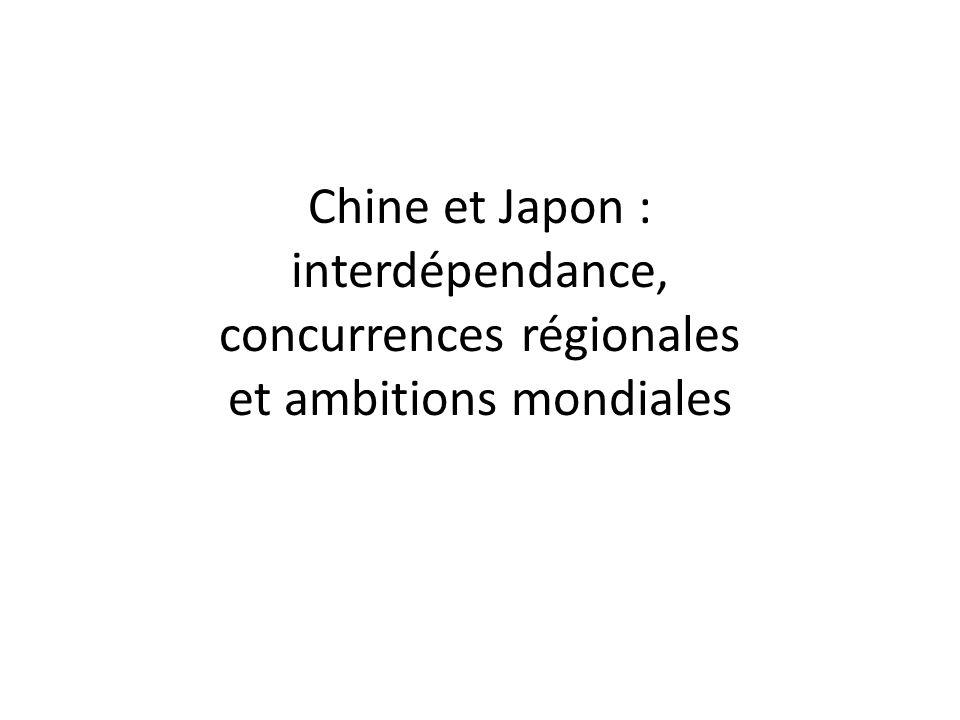 Chine et Japon : interdépendance, concurrences régionales et ambitions mondiales