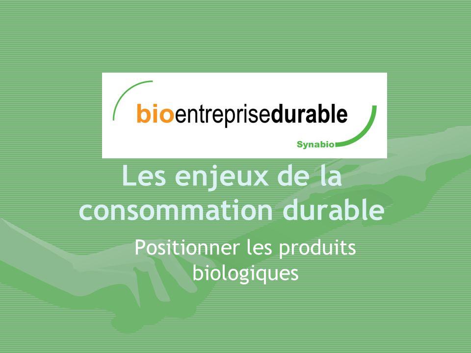 Les enjeux de la consommation durable Positionner les produits biologiques