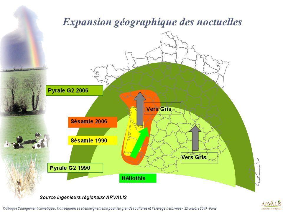 Colloque Changement climatique : Conséquences et enseignements pour les grandes cultures et l'élevage herbivore – 22 octobre 2009 - Paris Expansion gé