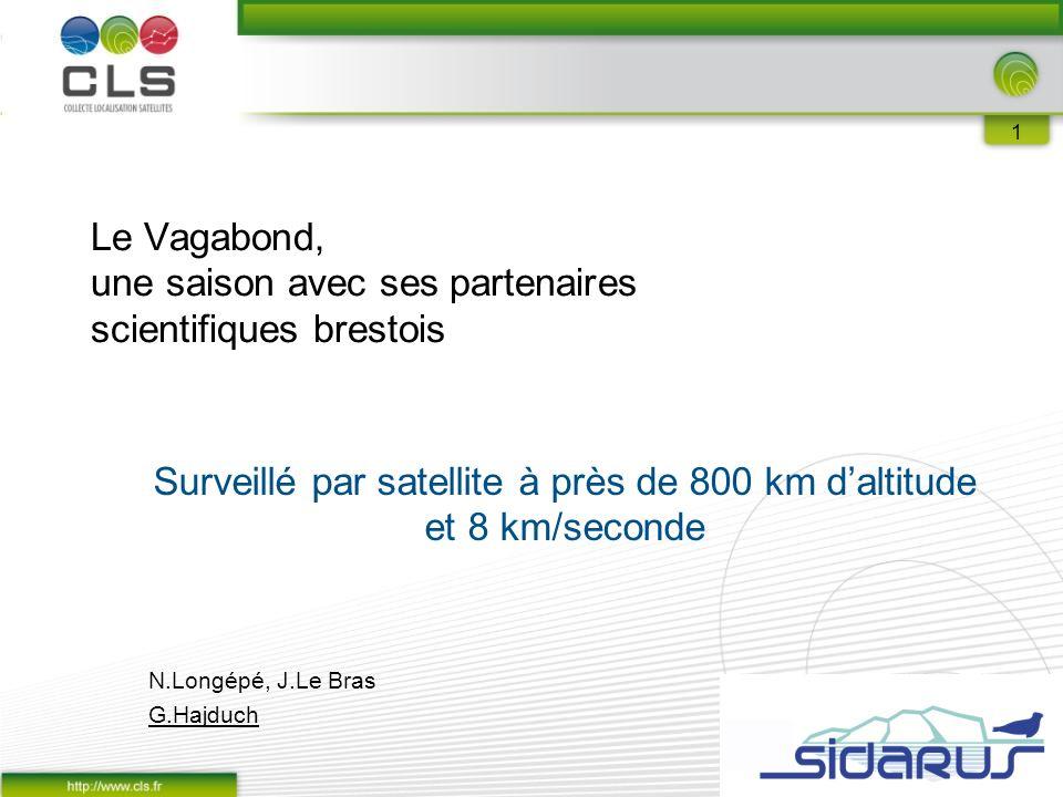 Le Vagabond, une saison avec ses partenaires scientifiques brestois Surveillé par satellite à près de 800 km d'altitude et 8 km/seconde N.Longépé, J.Le Bras G.Hajduch 1