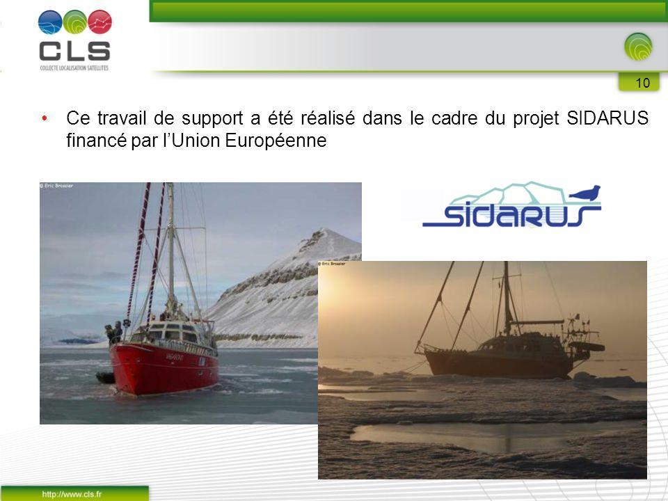10 Ce travail de support a été réalisé dans le cadre du projet SIDARUS financé par l'Union Européenne