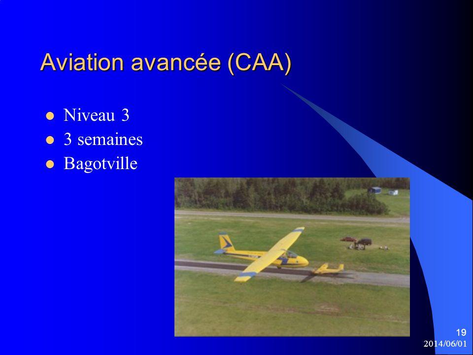 2014/06/01 19 Aviation avancée (CAA) Niveau 3 3 semaines Bagotville