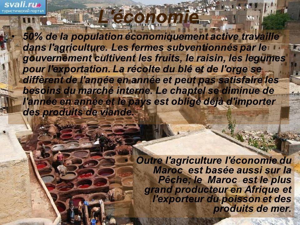 L'économie 50% de la population économiquement active travaille dans l'agriculture. Les fermes subventionnés par le gouvernement cultivent les fruits,