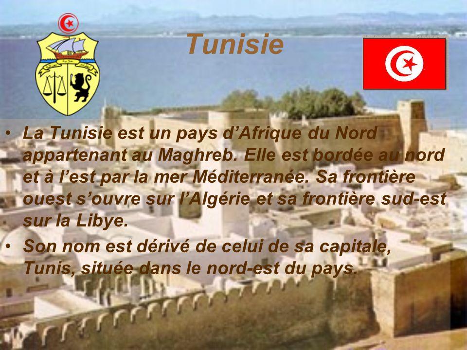 Tunisie La Tunisie est un pays d'Afrique du Nord appartenant au Maghreb. Elle est bordée au nord et à l'est par la mer Méditerranée. Sa frontière oues
