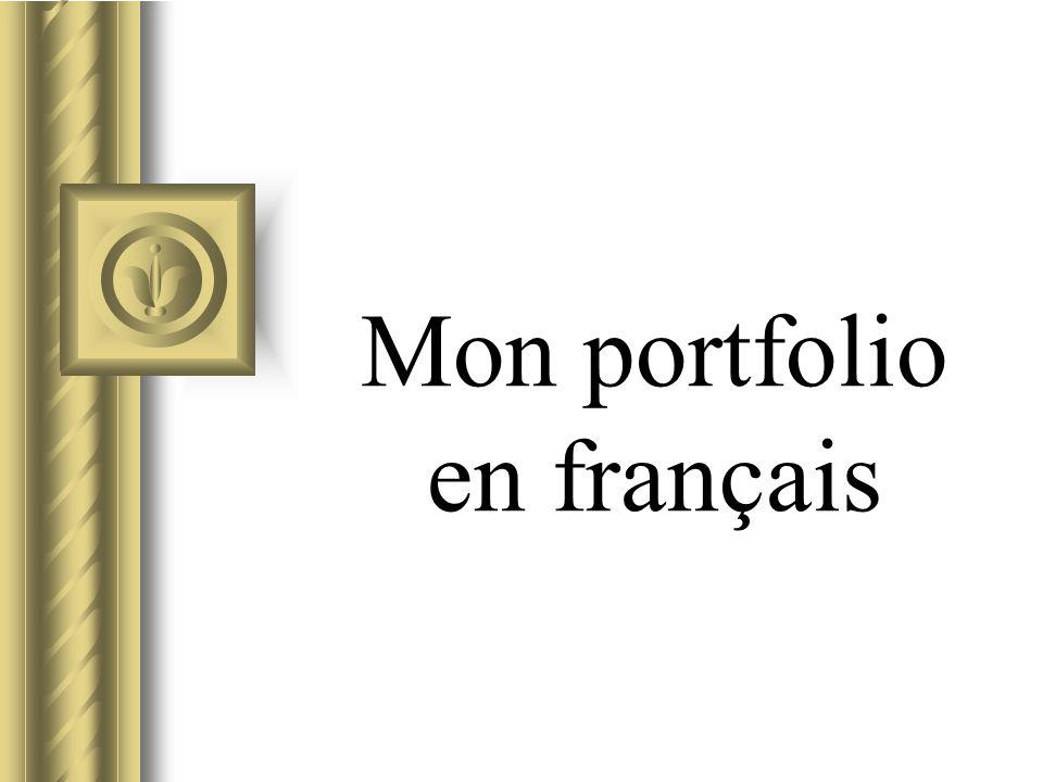 Mon portfolio en français