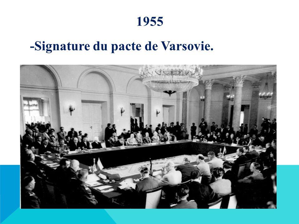 1955 -Signature du pacte de Varsovie.