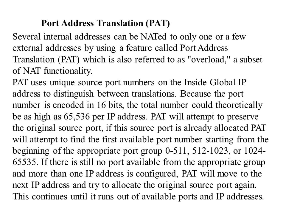 Exemple 4: 3 interfaces avec PAT et NAT The network has the following IP addresses and network masks:  Outside network interface address: 209.165.201.4, network mask: 255.255.255.224  Allowable global and static addresses on the outside network: 209.165.201.5-209.165.201.30, network mask: 255.255.255.224  Inside network interface address: 10.0.0.3, network mask: 255.0.0.0  DMZ network interface address: 192.168.0.1, network mask: 255.255.255.0
