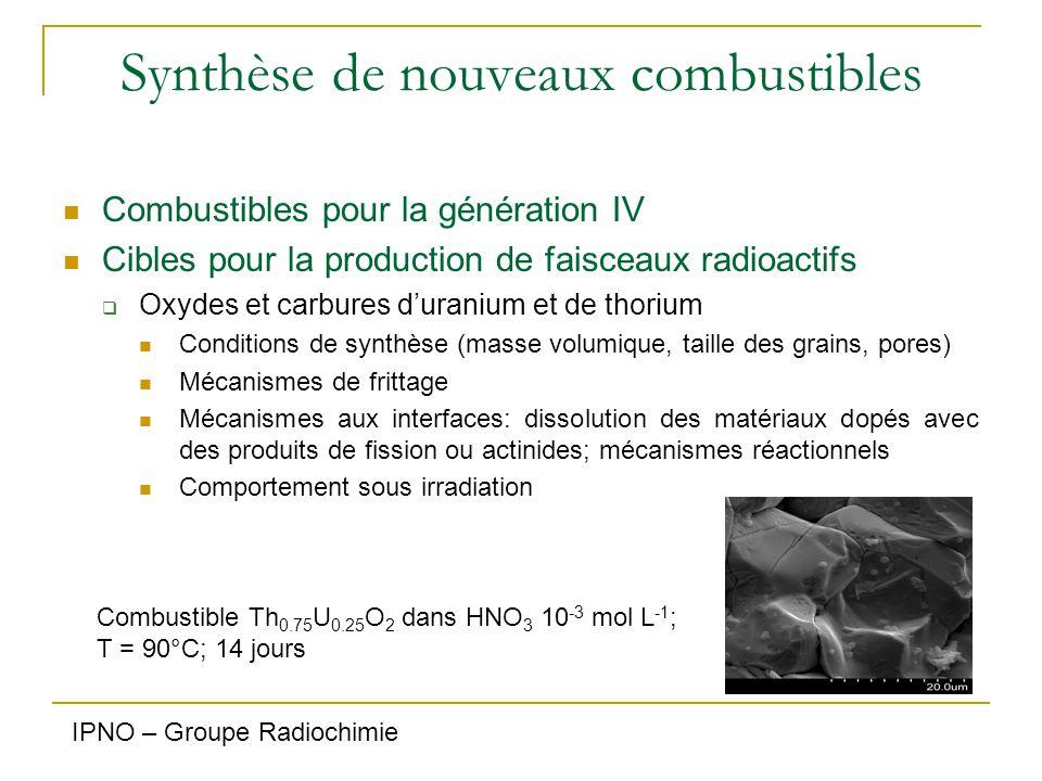 Synthèse de nouveaux combustibles Combustibles pour la génération IV Cibles pour la production de faisceaux radioactifs  Oxydes et carbures d'uranium