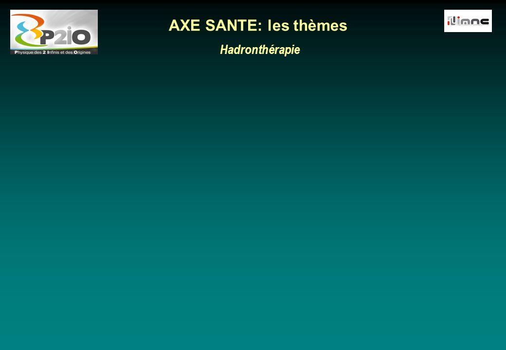 Hadronthérapie AXE SANTE: les thèmes