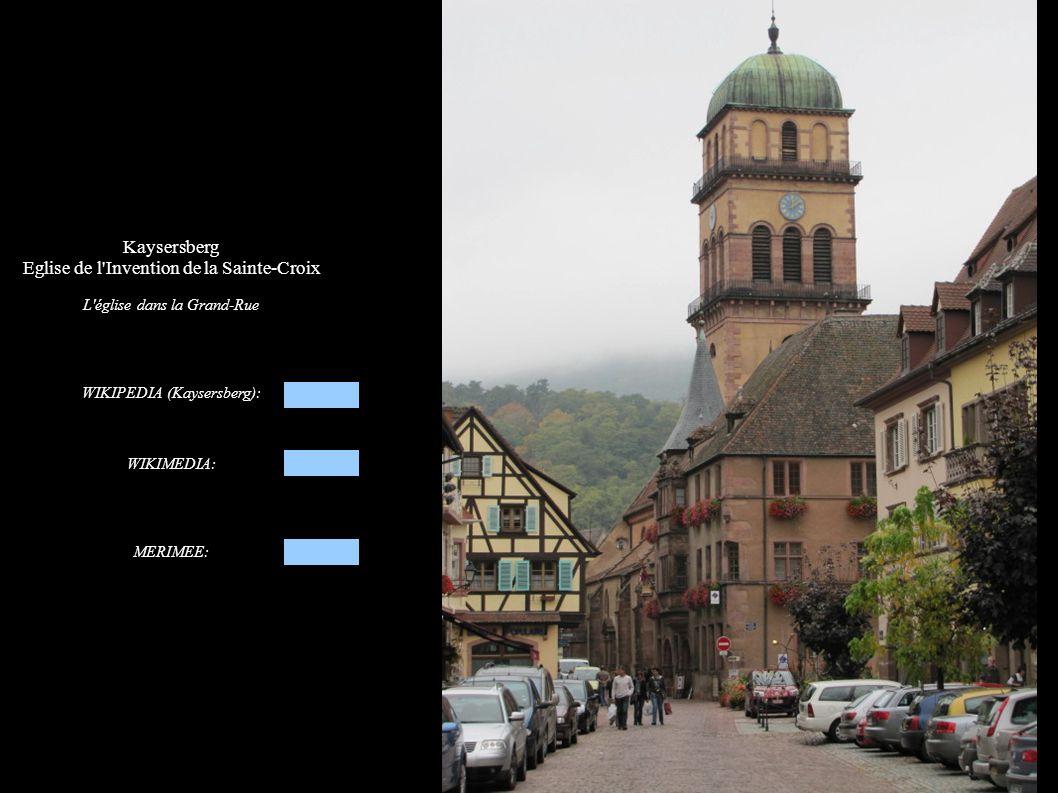 Kaysersberg, Eglise de l Invention de la Sainte-Croix Vue d ensemble de l église: façade occidentale, clocher et nef