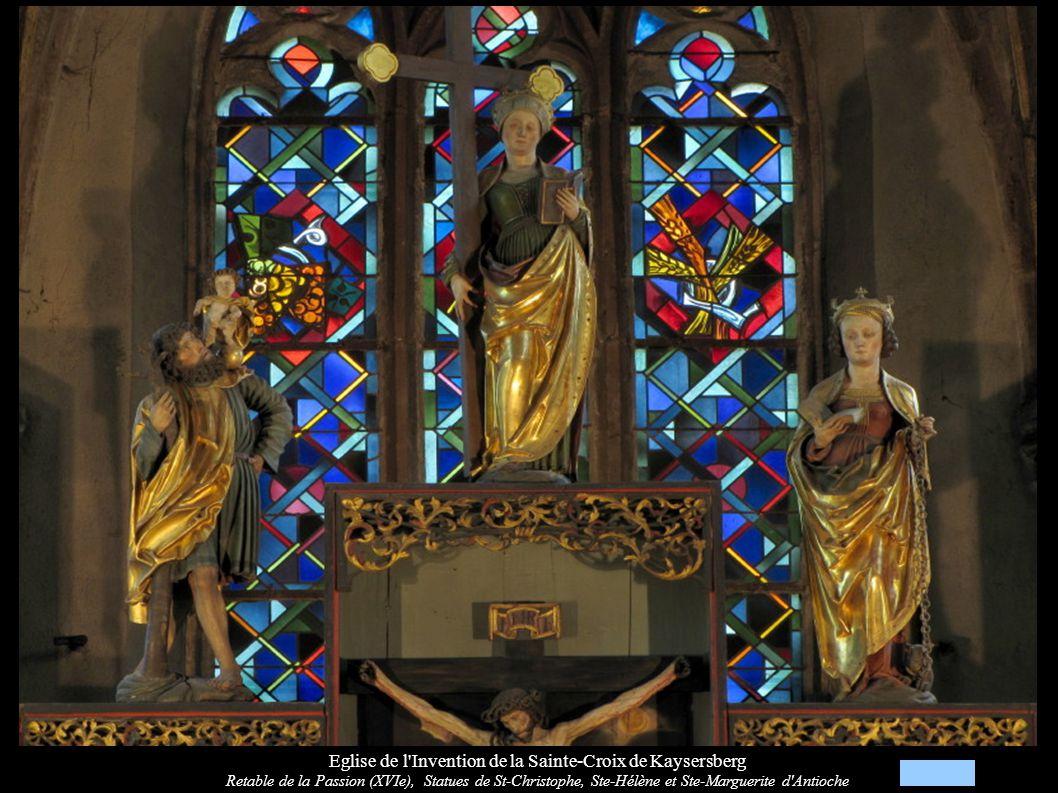 Eglise de l Invention de la Sainte-Croix de Kaysersberg Retable de la Passion (XVIe): Entrée à Jérusalem, Cène