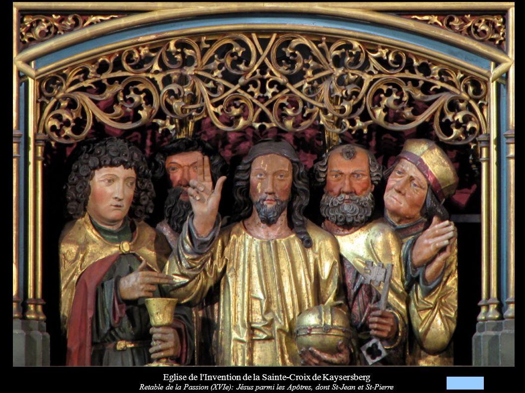 Eglise de l Invention de la Sainte-Croix de Kaysersberg Retable de la Passion (XVIe): Apôtres dont St-Jacques