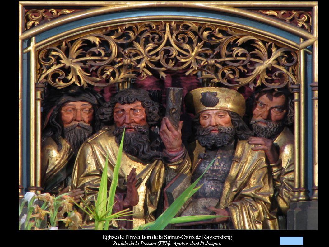 Eglise de l Invention de la Sainte-Croix de Kaysersberg Retable de la Passion (XVIe): Apôtres dont St-Paul