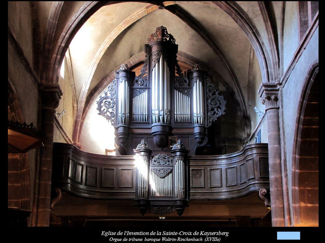 Eglise de l Invention de la Sainte-Croix de Kaysersberg Chaire à prêcher néo-gothique (XIXe)