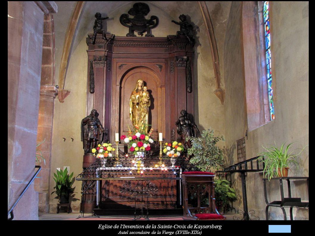 Eglise de l Invention de la Sainte-Croix de Kaysersberg Autel secondaire de la Vierge (XVIIIe-XIXe)