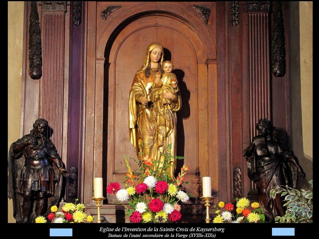 Eglise de l Invention de la Sainte-Croix de Kaysersberg Statues de l autel secondaire de la Vierge (XVIIIe-XIXe)