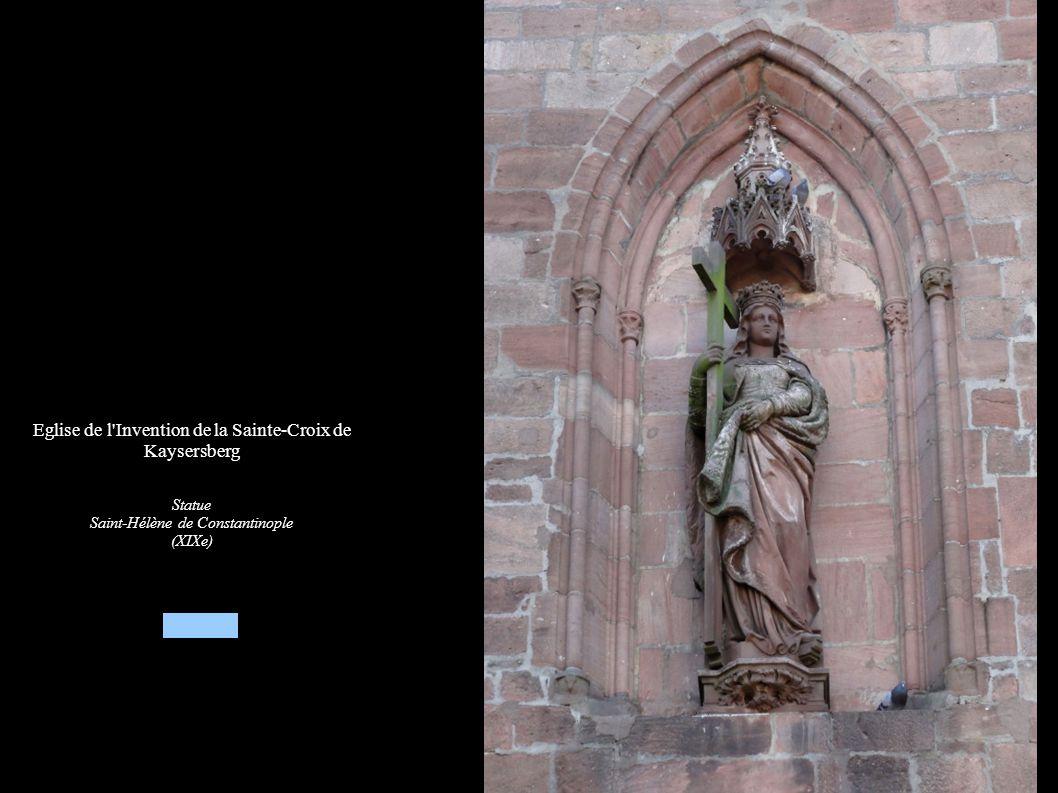 Eglise de l Invention de la Sainte-Croix de Kaysersberg Statue Saint-Hélène de Constantinople (XIXe)