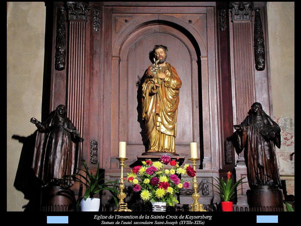 Eglise de l Invention de la Sainte-Croix de Kaysersberg Statues de l autel secondaire Saint-Joseph (XVIIIe-XIXe)