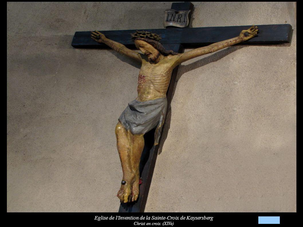Eglise de l Invention de la Sainte-Croix de Kaysersberg Statues « Saint Jean-Baptiste » et « Christ ressuscité » (XVIe)