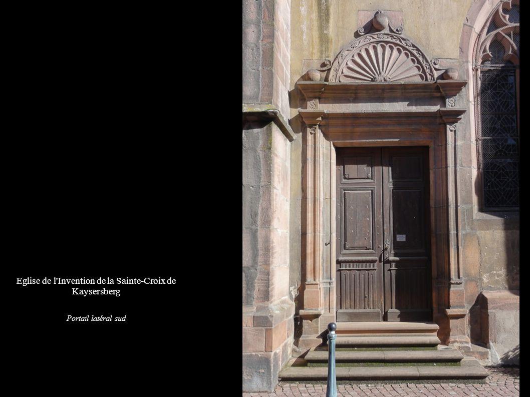 Kaysersberg, Eglise de l Invention de la Sainte-Croix Vue de la façade nord: abside, clocher et nef