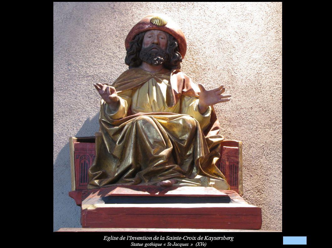 Eglise de l Invention de la Sainte-Croix de Kaysersberg Statue gothique « St-Jacques » (XVe)