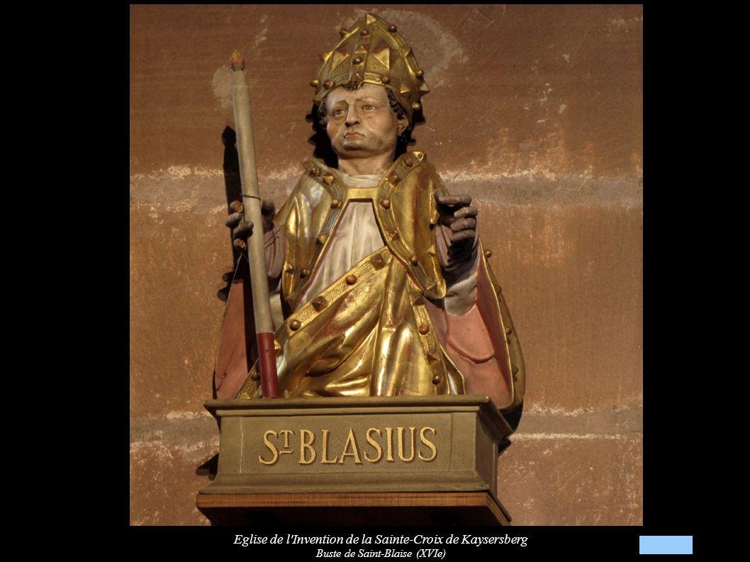 Eglise de l Invention de la Sainte-Croix de Kaysersberg Buste de Saint-Blaise (XVIe)