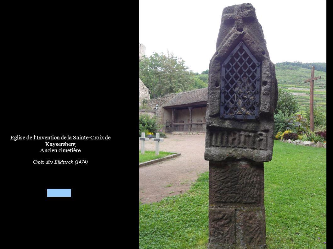 Eglise de l Invention de la Sainte-Croix de Kaysersberg, Ancien cimetière Groupe sculpté « Crucifixion » dit croix de St-Jacques ou croix de la Peste (1511)