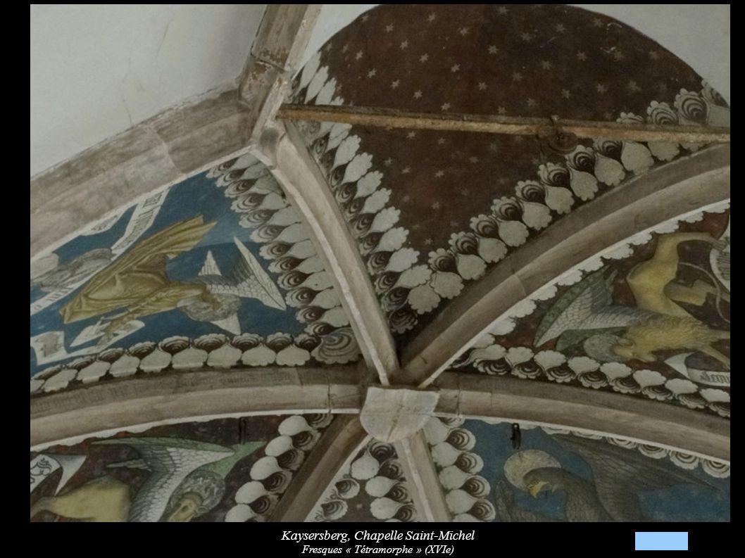 Kaysersberg, Chapelle Saint-Michel Fresques « Tétramorphe » (XVIe)